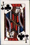 Jack of Clubs Postcard