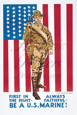 Be A U.S. Marine postcard