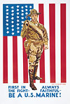 Be A U.S. Marine Poster