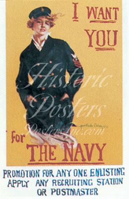 I Want You for The Navy postcard