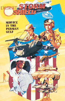 Desert Storm War postcard