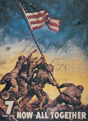Iwo Jima Postcard