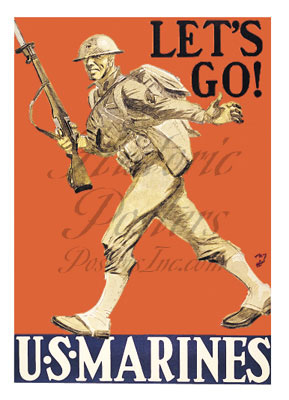 Let's Go Marines-Notecards