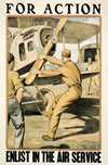 For Action: Enlist in the Air Service Poster