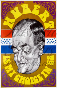 Hubert Humphrey Caricature Poster