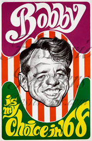 Bobby Kennedy Caricature Poster