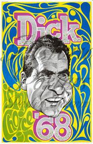 """Richard """"Dick"""" Nixon Caricature Poster"""
