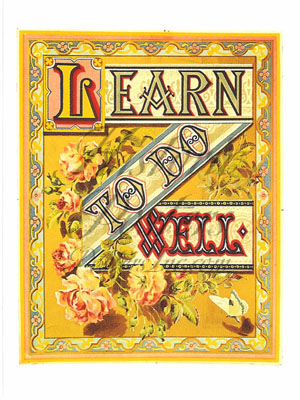 Learn to Do Well Postcard