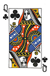 Queen of Clubs Postcard
