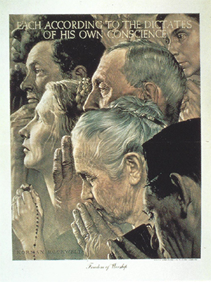 "Norman Rockwell - ""Freedom of Worship"""