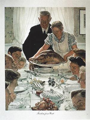 "Norman Rockwell - ""Freedom from Want"""