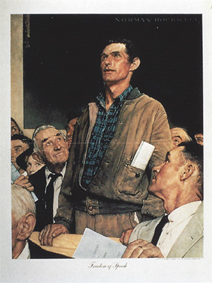 "Norman Rockwell - ""Freedom of Speech"""